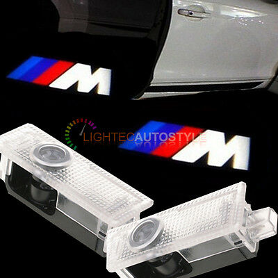 Pair Of Bmw M Sport Cree Led Logo Ghost Shadow Door Light Lamp Plug And Play Uk