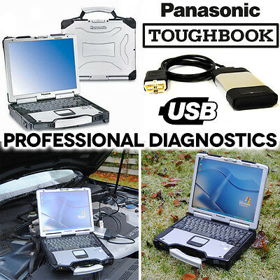 Panasonic Toughbook CF-29 Car Diagnostic Laptop Tool ABS Airbag Service Scanner