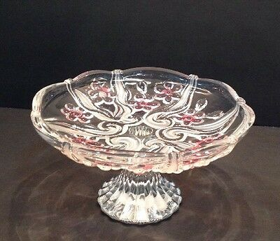Mikasa Floral Pink Frost Footed Plate Germany