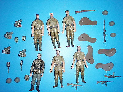 LOTE FIGURAS WEHRMACHT 1:18 21st CENTURY TOYS THE ULTIMATE SOLDIER FIGURES LOT
