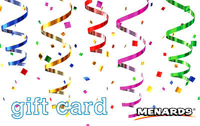 $200 MENARDS HOLIDAY GIFT CARD + FREE USPS PRIORITY SHIPPING