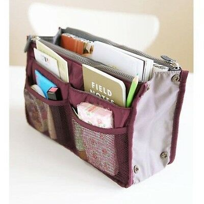 Hot women wash bag Fashion double zipper Storage bag travel gargle bag Dark Red