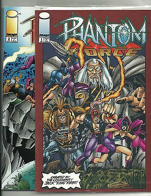 PHANTOM FORCE #1 #2 (Image 1994) Jack Kirby • Complete set of two issues • NM*