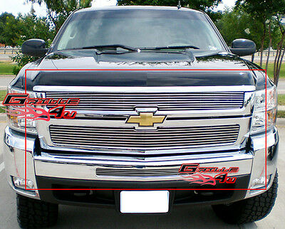 Fits 2007-2010 Chevy Silverado 2500 Billet Grille Combo 08 09