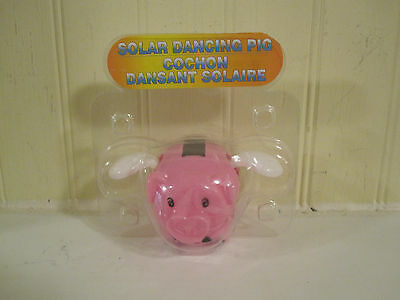 Solar Dancing pig new in package pink pig when pigs fly