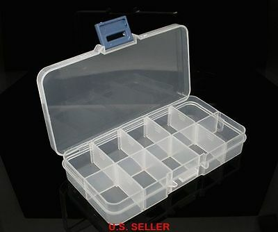 10 Grid Slot Adjustable Jewelry Organizer Beads Storage Box Container Case Craft