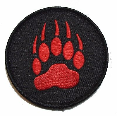 BEAR CLAW WOLVERINE US MILITARY USA ARMY BADGE BLACK OPS RED MORALE VELCRO PATCH