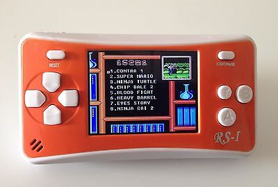 "8-Bit Retro 2.5"" COLOR LCD 150+ Video Games Portable Handheld Console (ORANGE)"