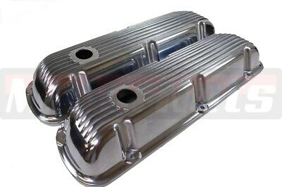 SBF Small Block Ford Finned Aluminum Valve Cover 289302 351W 5.0L Mustang Falcon