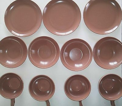 Vintage Sun-Valley Melmac Bowls - Light Brown - LOT of 11 pieces - Free USA Ship