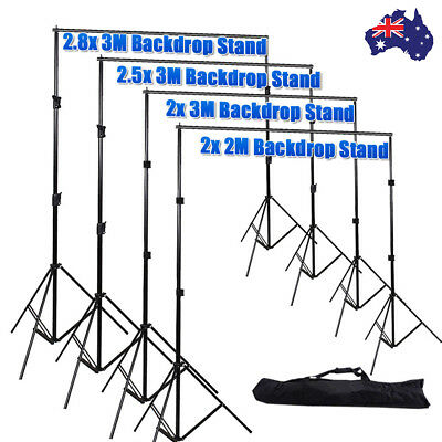 Photography Studio Photo Video Backdrop Screen Background Lighting Stand Kit