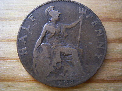 1923  georgev   halfpenny collectable