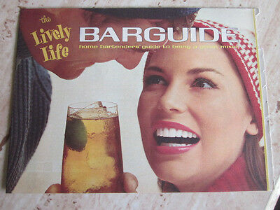 1966 THE LIVELY LIFE BARGUIDE home bartenders' guide to being.. Recipe Pamphlet