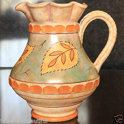 """Abstract Leaf Pattern BURLEIGH WARE Large Jug, 200 mm (8"""")"""