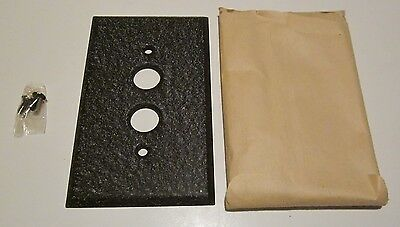 NOS Single Gang Pushbutton Switch Plate Wrinkle Brown Paint On Steel (33 Avail)