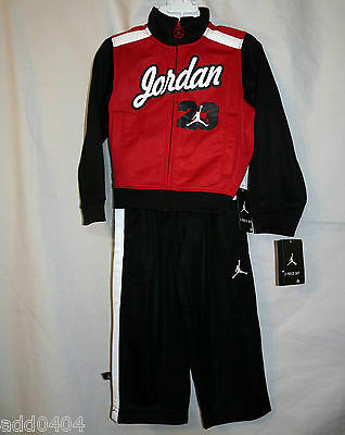 Nike Air Jordan Baby Boy 2 Pc Track Suit Red / Black / White Size 2T - NWT