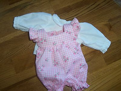 "OOAK Baby Doll Clothes Romper  Mini Reborn 10 ""        2  pc."