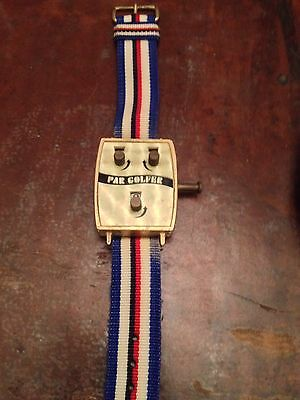 Vintage stroke counter Golfer's Pal cloth band jewelry men's