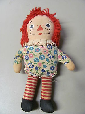 Vintage Old Antique Retro Girl's Raggedy Ann Collectible Little Doll 7 inches
