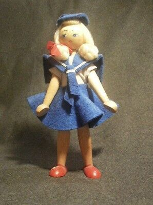 WOODEN DOLL MADE IN POLAND SAILOR GIRL
