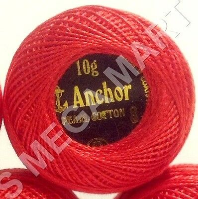 1 x RED Anchor Crochet Cotton sewing Embroidery Thread Balls *Size no.8