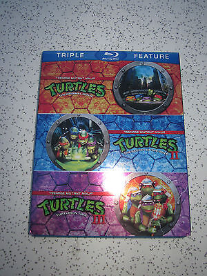 Teenage Mutant Ninja Turtles Triple Movie Feature 1,2&3 TMNT Blu-ray Disc Set