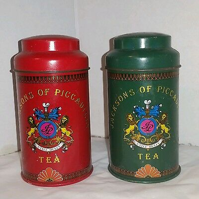 Jacksons Of Picadilly small Tea Containers (set of 2)