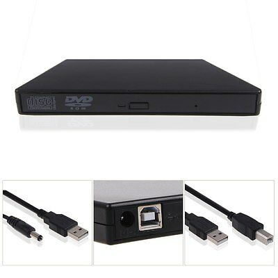 External USB 2.0 DVD ROM Player Reader Combo CD±RW Drive for All Laptop PC Mac
