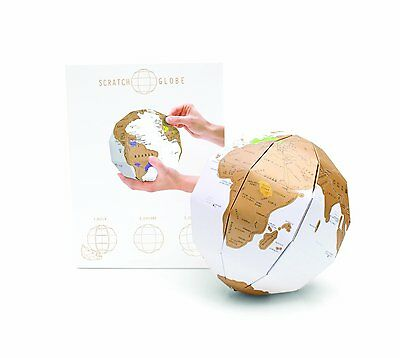Scratch Globe Personalised World 3D Globe - where you have been