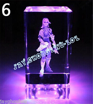 Free Lettering New LOL League of Legends Lux 3D Crystal Figure Lights