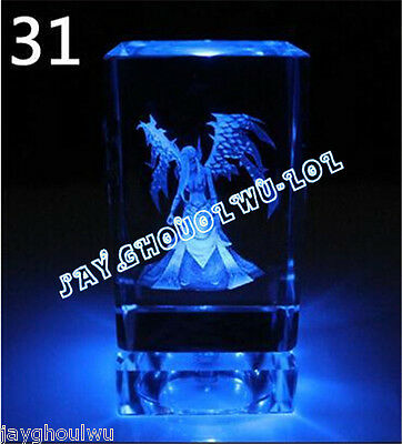 Free Lettering New LOL League of Legends Morgana 3D Crystal Figure Lights