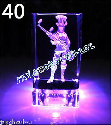 Free Lettering New LOL League of Legends Caitlyn 3D Crystal Figure Lights