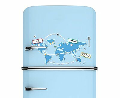 Luckies Mapnetic Dry Wipe Fridge Magnet World Map Set