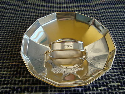 Antique Tiffany & Co. Sterling .925 Finger Bowl+Sterling Napkin Ring not Tiffany