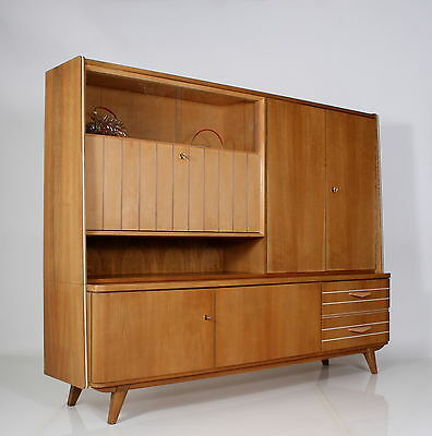 FANTASTIC Highboard sideboard drinks cabinet 50s integr. BAR BLONDWOOD a 50 • £485.00