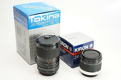 Tokina 28-85mm F/3.5-4.5 AT-X Kiron 2x Tele-converter for Canon FD Cameras