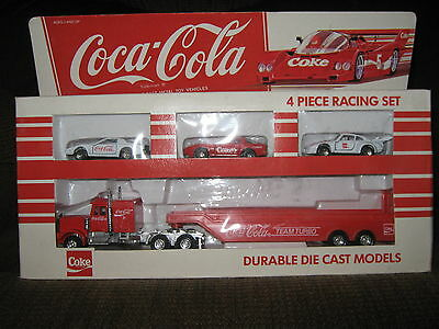 Coca Cola, Durable Die Cast Models, 4 Piece Racing Set, New in package!