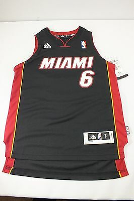 Miami Heat Nba Lebron James #6  Jersey Size S,m,l,xl Youth New By Adidas A13