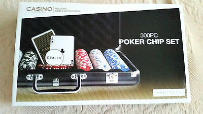 PROTOCOL  300 PC  POKER CHIP SET     UNUSED     IN ORIGINAL BOX