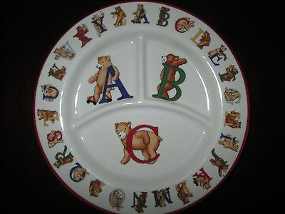 1994 TIFFANY & CO Alphabet BEARS Divided BABY Childs Dish-Plate Porcelain Japan