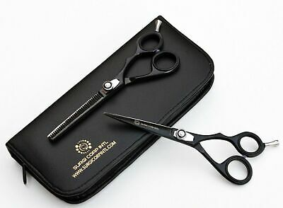 "Professional Hairdressing Scissor &Thinning Set 6"" Black Barber Scissors Set"