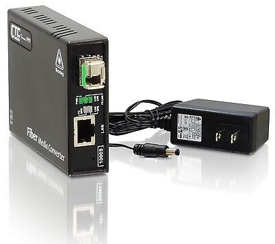 Gigabit Ethernet to single-mode BiDi fiber media converter unmanaged 20Km B type