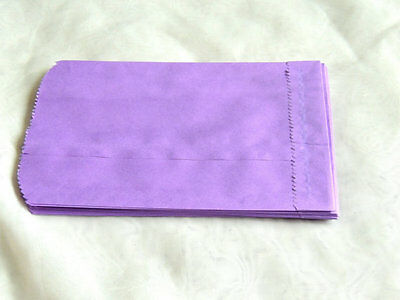 50 -5x7 PURPLE Paper Party Bags, Paper Merchandise Serrated Edged Bags