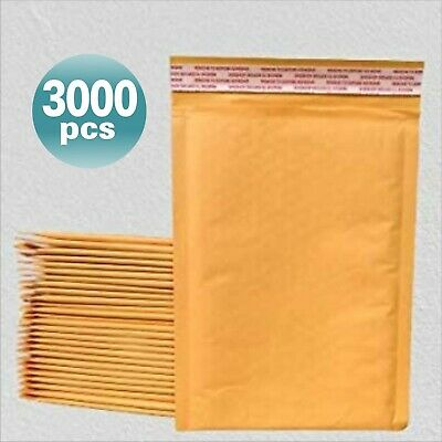 Yens® 3000 #0 Kraft Bubble Padded Envelopes Mailers 6.5 X 10 fit DVD CD Case