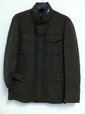 New Authentic COACH Men's Wyatt Field Jacket Winter Coat Olive Small