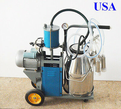 Milker Electric Piston Milking Machine For Cows Farm Bucket