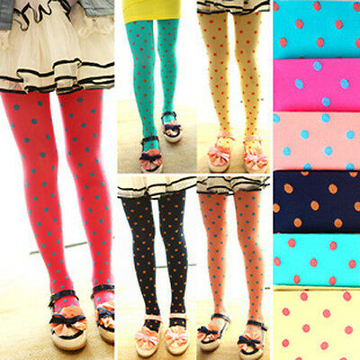 New Bright Girls Kids Footed Tights Stockings Ballet Dance Solid Candy Colors