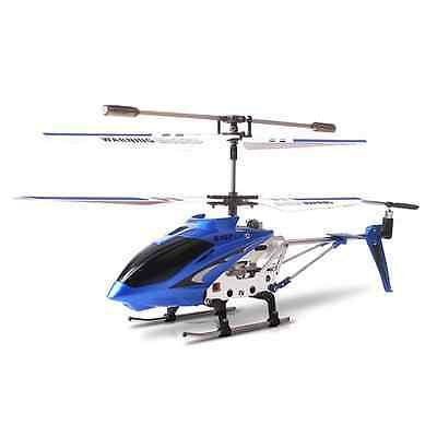 Syma S107G 3.5 Channel 3CH Mini Metal Remote Control RC Helicopter Genuine Blue