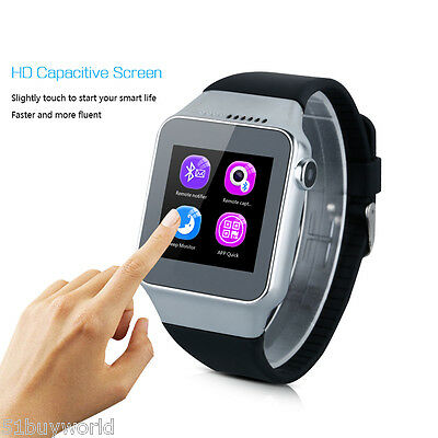 "Unlocked 1.5"" Mobile Bluetooth Smart Wrist Watch/Phone 2G GSM Sports Anti-lost"