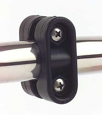 Rail Mount Bracket with Stainless Steel Fixing Screws - for 22-25mm Tube